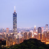 Taipei by night. (Taiwan) Royalty Free Stock Images