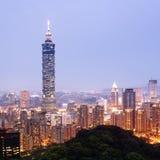 Taipei by night. (Taiwan) Royalty Free Stock Images