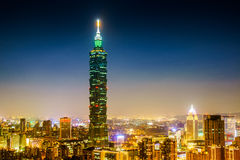 Taipei 101 night view Royalty Free Stock Photography