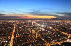 Taipei.Panoramic city skyline at sunset Royalty Free Stock Photography