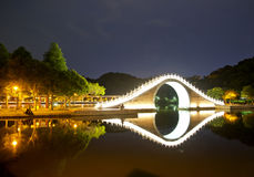 Taipei park night. The beautiful night view of the park is in Taipei, Taiwan Stock Images