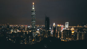 Taipei 101. Picture of the Taipei skyline including Taipei 101 Royalty Free Stock Photo