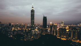 Taipei 101. Picture of the Taipei skyline including Taipei 101 Royalty Free Stock Image
