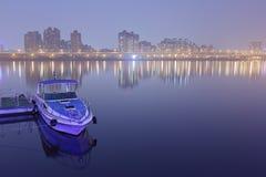 Taipei-Pier nachts Lizenzfreie Stockfotos