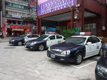 Taipei police car Stock Image