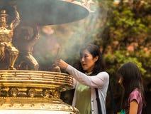 Taipei prayer Stock Images