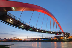 Taipei punktu zwrotnego most Obrazy Royalty Free