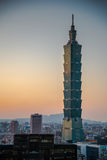 Taipei 101, punto di riferimento di Taipei, Taiwan Immagini Stock Libere da Diritti