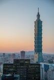 Taipei 101, punto di riferimento di Taipei, Taiwan Fotografie Stock Libere da Diritti