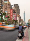 Taipei rusar Royaltyfria Foton