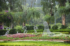Taipei Shilin Residence gardens and bandstand Stock Photos