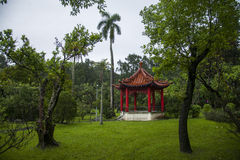 Taipei Shilin Residence gardens and bandstand Royalty Free Stock Photo