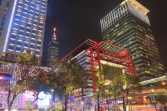 Taipei shopping district cityscape Taiwan Stock Image