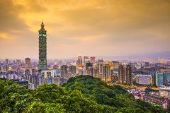 Taipei Skyline Royalty Free Stock Photos