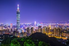 Taipei Skyline Royalty Free Stock Images