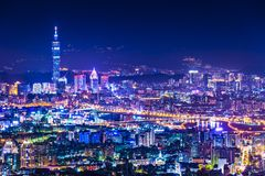 Taipei Skyline Royalty Free Stock Image