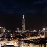 Taipei Skyline night Royalty Free Stock Photos