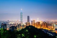 Taipei Skyline at Night. Stock Photography