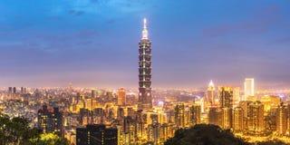 Taipei skyline Panorama Royalty Free Stock Image