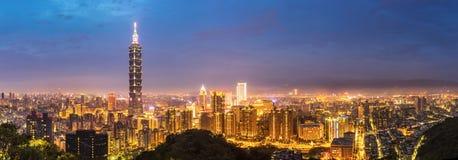 Taipei skyline Panorama Stock Photos