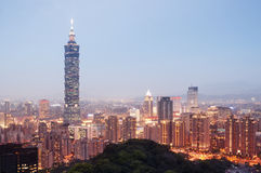 Taipei Skyline - Taiwan. Royalty Free Stock Photos