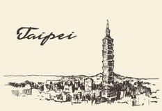 Free Taipei Skyline Taiwan Vector Hand Drawn Sketch Stock Photo - 64304210