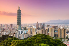 Taipei Skyline. Taipei, Taiwan skyline of the Xinyi District royalty free stock photo
