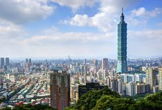 Taipei Skyline Stock Images