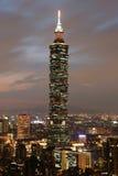 Taipei 101 skyskrapa i Taiwan Royaltyfri Bild