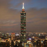Taipei 101 skyskrapa i Taiwan Arkivfoton