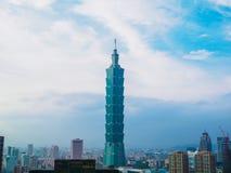 Taipei 101 skyskrapa, Taiwan Arkivfoto