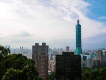 Taipei 101 skyskrapa, Taiwan Arkivbilder