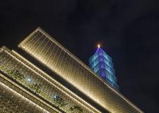 Taipei 101 som bygger Arkivfoto