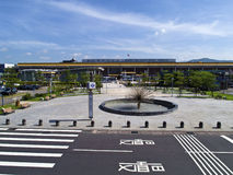 Taipei Songshan Airport. Taipei, Taiwan - JUNE 27, 2015: open square in front of Taipei Songshan Airport on June 27,2015 in Taipei,Taiwan Royalty Free Stock Images