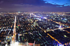 Taipei-Stadt nachts Lizenzfreies Stockfoto