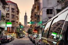 Taipeh-Straße Lizenzfreies Stockfoto
