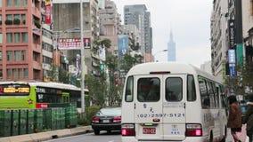 Taipei Street Scene Near the East Gate Trading Area. HD stock video footage