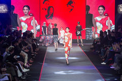 Taipei in style fashion show models on runway Royalty Free Stock Photos