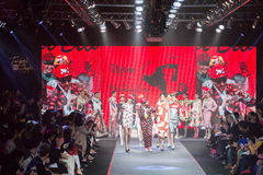 Taipei in style fashion show models on runway Stock Image