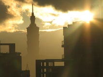 Taipei 101 at Sunrise Royalty Free Stock Photography