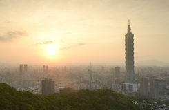 Taipei sunset time Royalty Free Stock Image