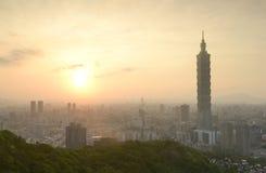 Taipei sunset time Royalty Free Stock Image