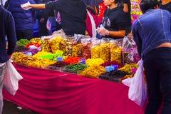 Taipei, Taiwán, calle de Dihua, calle del Año Nuevo, las atracciones turísticas internacionales, compra anual del ` s de China de fotografía de archivo libre de regalías