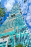 Taipei, Taiwán - 22 de noviembre de 2015: Torre de Taipei 101, visión desde Foto de archivo libre de regalías