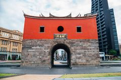 Beimen, North gate of Taipei city wall Cheng-en Gate in Taipei, Taiwan. Taipei, Taiwan - April 25, 2018 : Beimen, North gate of Taipei city wall Cheng-en Gate Royalty Free Stock Images