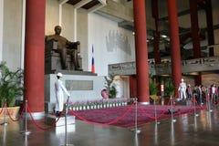 TAIPEI, TAIWAN - APRIL 15, 2015. The main entrance of Sun Yat-Sen Memorial Hall at Taipei on April 15, 2015. The bronze statue of Dr.Sun Yat-Sen, the political Stock Photography
