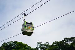 Taipei, Taiwan - April 20, 2018 : The Maokong Gondola. It is the 4.3KM cable car system that operates between MRT Taipei Zoo and stock images