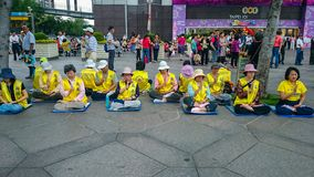 Support falun dafa Group remonstra royalty free stock photography