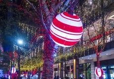 Taipei, Taiwan Christmas lights Royalty Free Stock Images