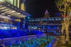 Taipei, Taiwan Christmas lights Stock Images